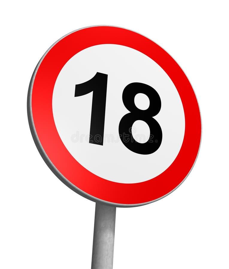 Limite de idade Over-18 ilustração do vetor