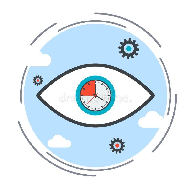 Limite de tempo, fim do prazo, ilustração do vetor de controle do tempo ilustração royalty free