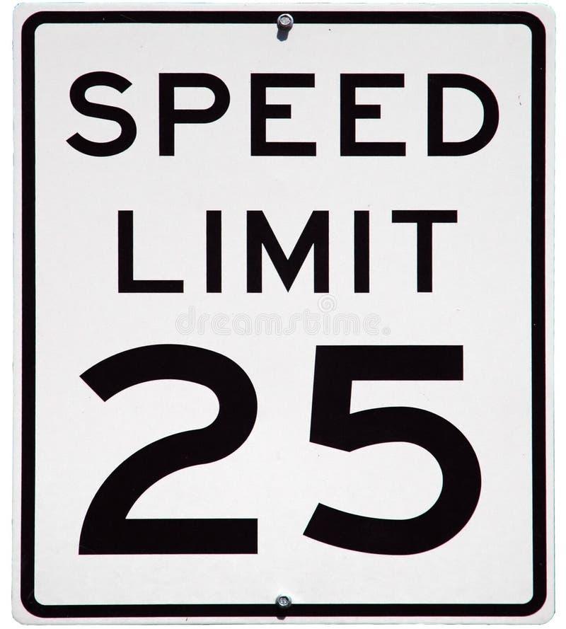 Limite de velocidade 25 fotografia de stock royalty free
