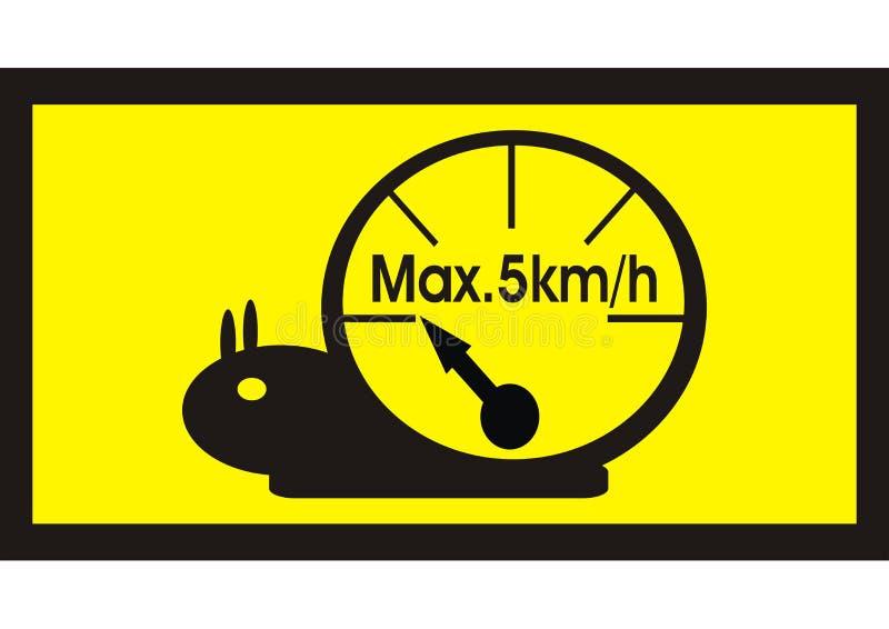 Limite de velocidade do velocímetro do caracol ilustração do vetor