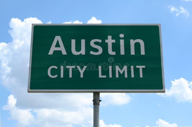 Limite de ville d'Austin photos libres de droits