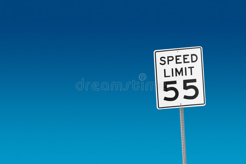 Limite di velocità 55 immagine stock