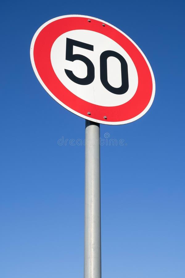 Limite di velocit? 50 km/ora immagini stock libere da diritti