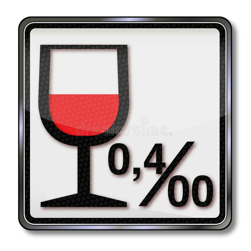 Limite et alcool 0 d'alcool 04 illustration libre de droits
