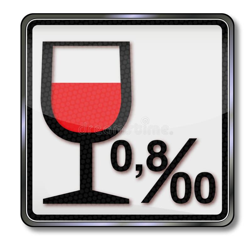 Limite legal 0 8 e alcoolismo ilustração stock