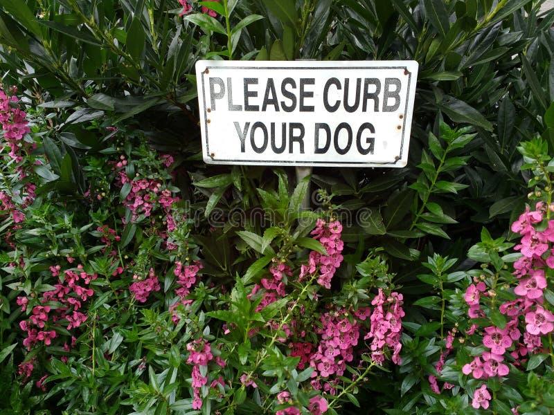 Limite seu sinal do cão imagem de stock