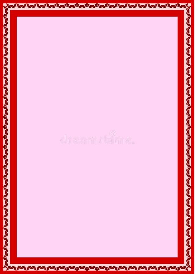 Limite a textura decorada floral do vetor do fundo da almofada dos artigos de papelaria A4 ilustração royalty free