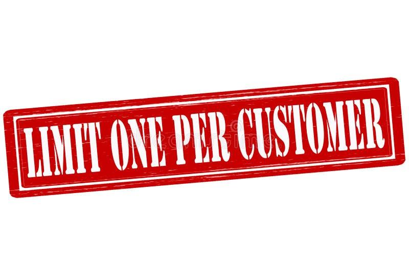 Limite um pelo cliente ilustração royalty free