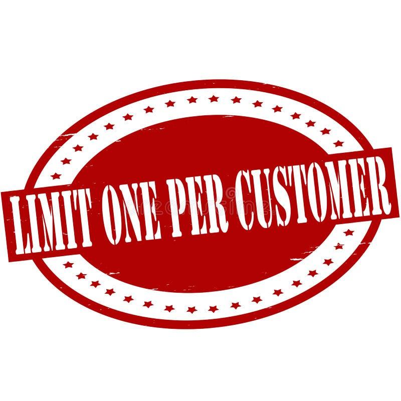 Limite um pelo cliente ilustração stock