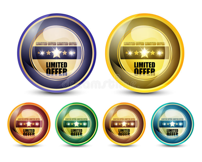 Limited Offer Button Set Royalty Free Stock Photo