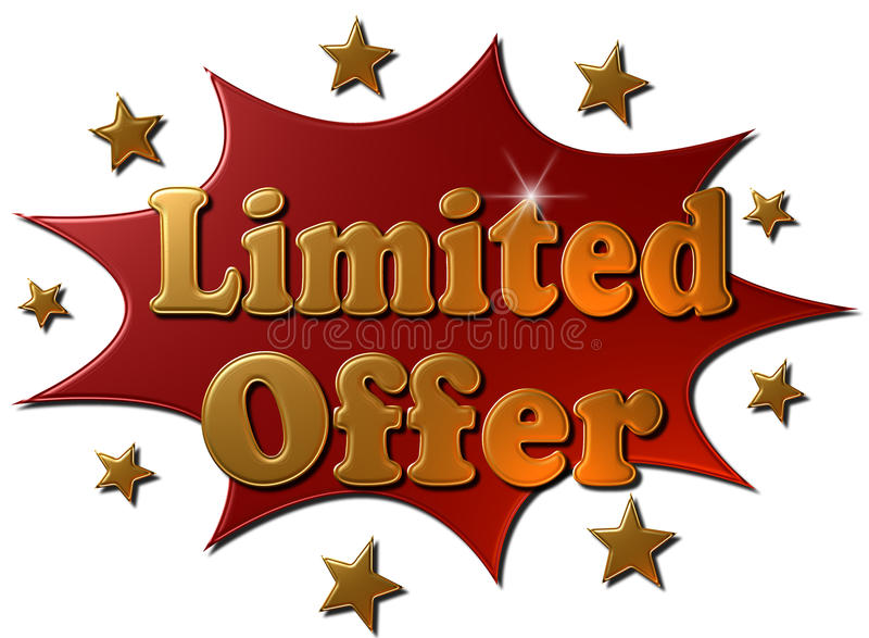 Limited offer (explosion) royalty free illustration