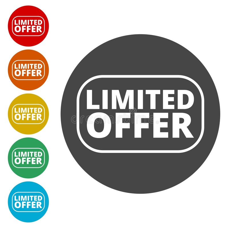 Limited Offer icon stock illustration