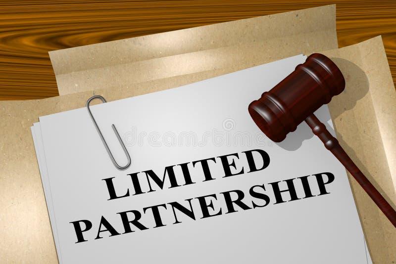 Limited Partnership - legal concept. 3D illustration of `LIMITED PARTNERSHIP` title on legal document stock images