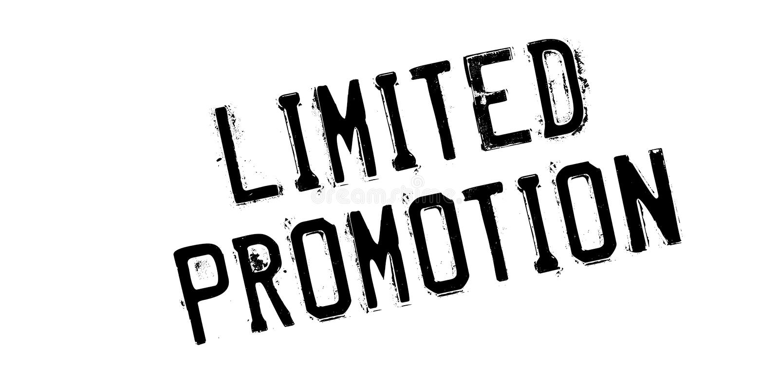 Limited Promotion rubber stamp royalty free stock photos