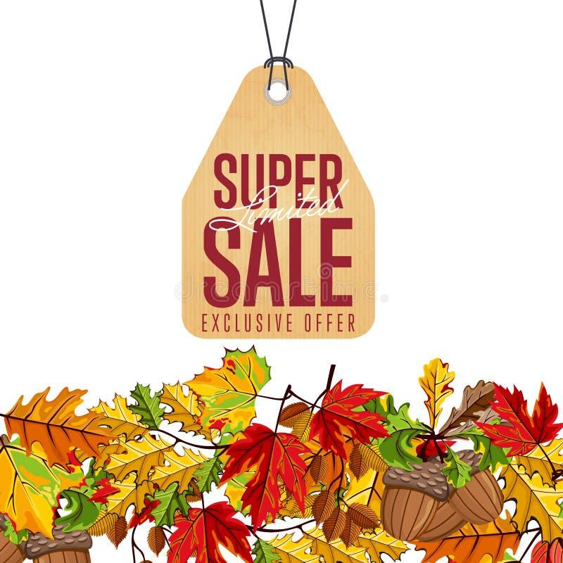 Limited super sale label. Exclusive offer. royalty free illustration