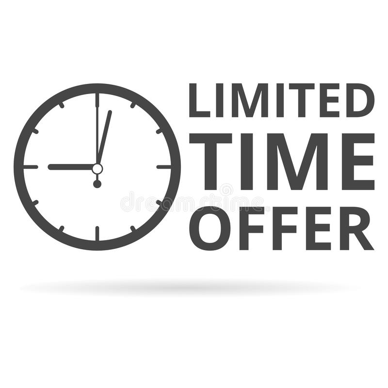 Limited time offer icon. Vector icon stock illustration