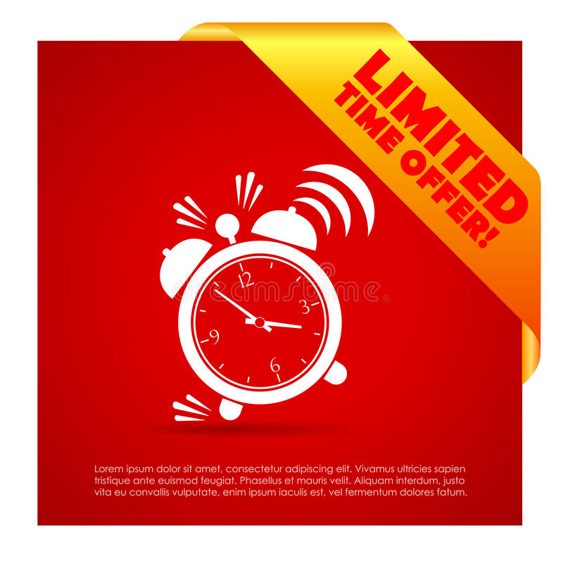 Limited time offer poster stock illustration