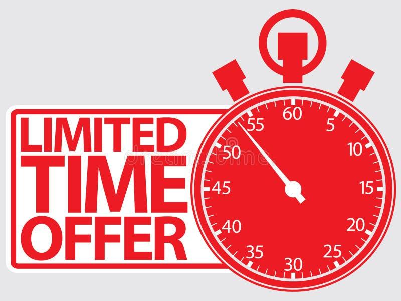Limited time offer red label, vector. Illustration stock illustration