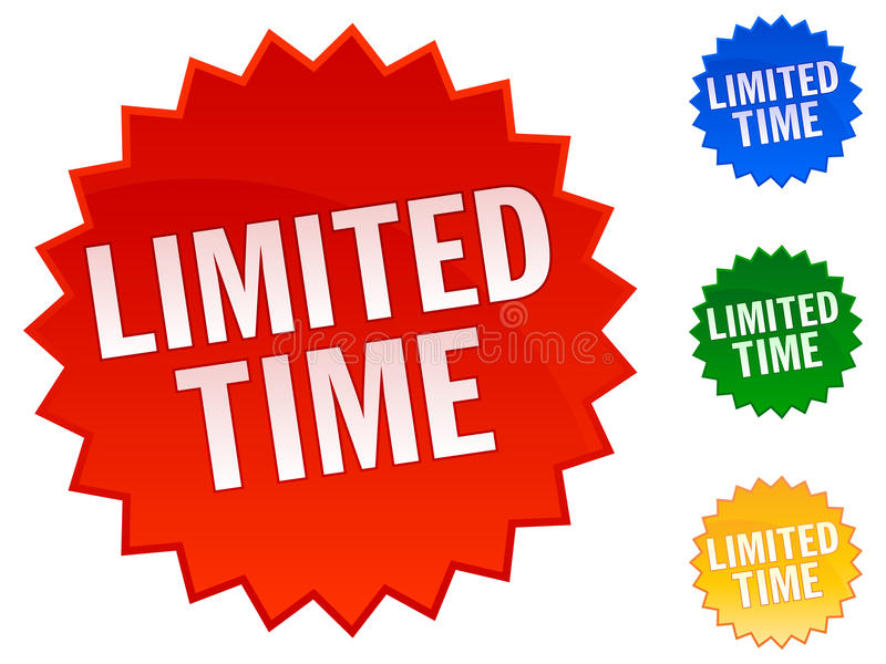Limited Time Stickers stock illustration