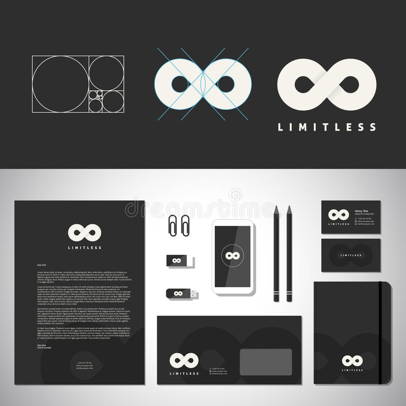 Limitless abstract logo template and identity stock vector download limitless abstract logo template and identity stock vector illustration of mathematical clear reheart Image collections