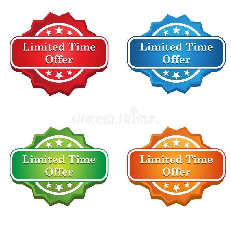 Limitowana czas oferty etykietki ikona royalty ilustracja