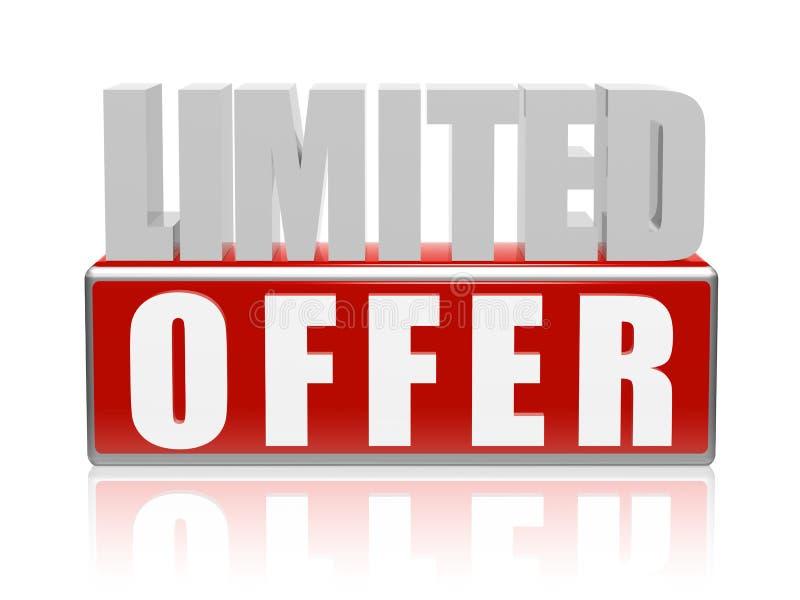 Limitowana oferta w 3d listach i bloku ilustracja wektor