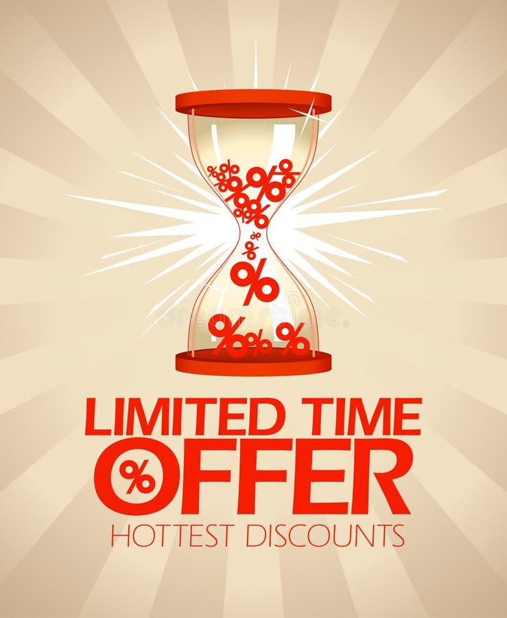 Limitowany czas oferty projekt z hourglass. royalty ilustracja