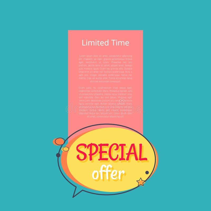 Limitowany czas Specjalnej oferty sprzedaży ogłoszenia plakat ilustracji