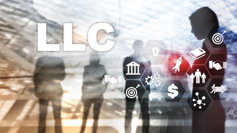 Limitowany Obligacyjny firmy poj?cie Ikony na wirtualnym ekranie dodatkowy interesu format t?o ilustracja wektor