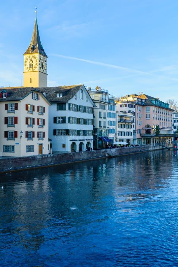 Limmat River, Zurich stock photos