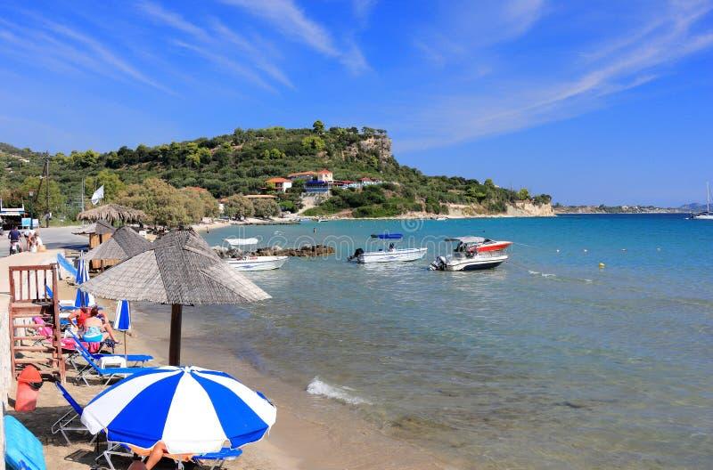 Limni Keriou Ανατολική Ακτή της Ζάκυνθου ή του νησιού Zante, ιόνια θάλασσα, Ελλάδα στοκ φωτογραφία
