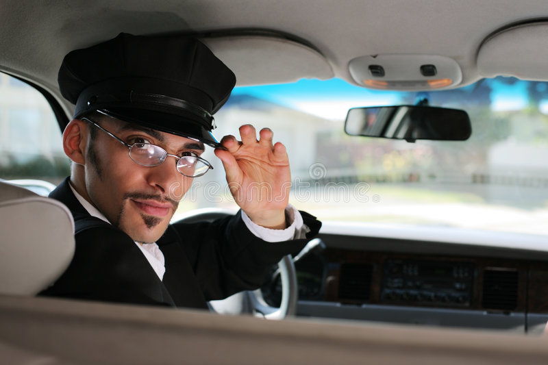 Limo driver. Portrait of handsome limo driver royalty free stock photos