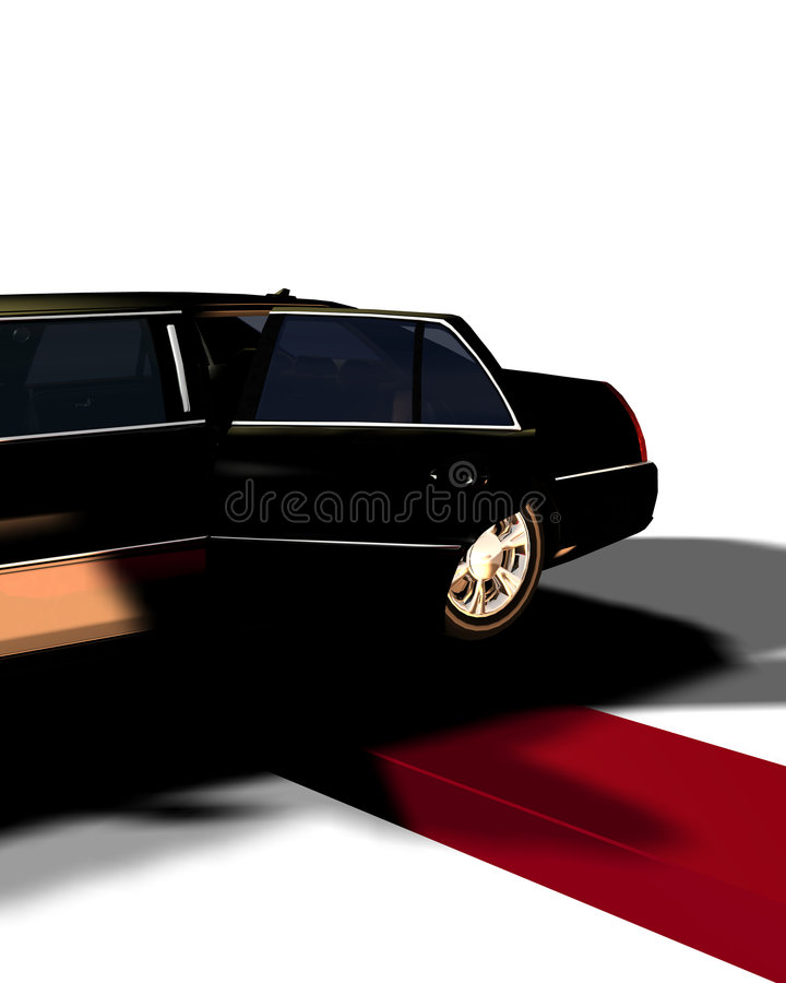 Download Limo With Red Carpet 10 stock illustration. Image of prestige - 4516235