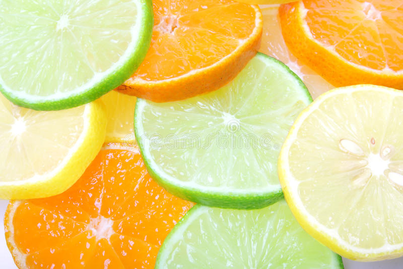 Limon de mandarine de limette image libre de droits