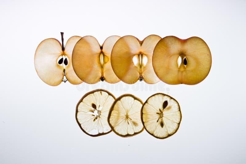 Limon et pomme photographie stock