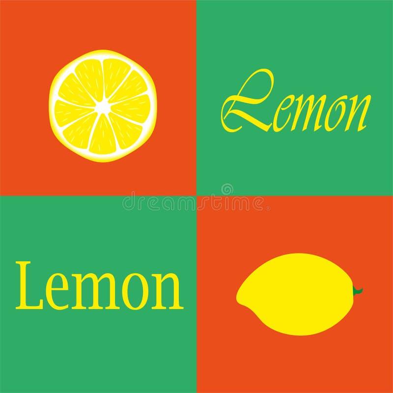 Limon Rött - grön bakgrund royaltyfri bild