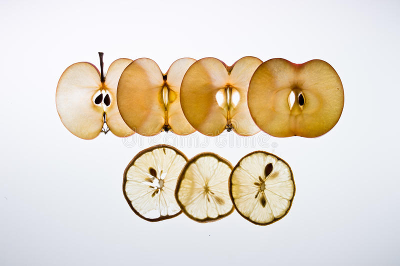 Limon und Apfel stockfotografie