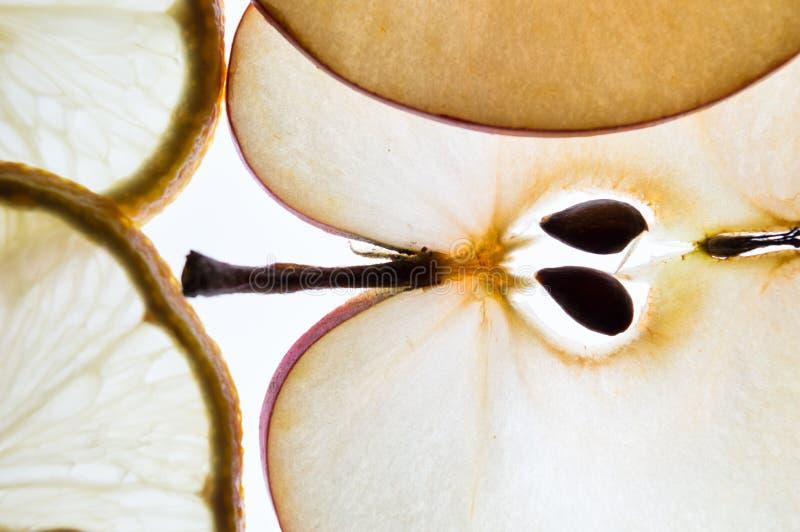 Limon und Apfel stockfoto