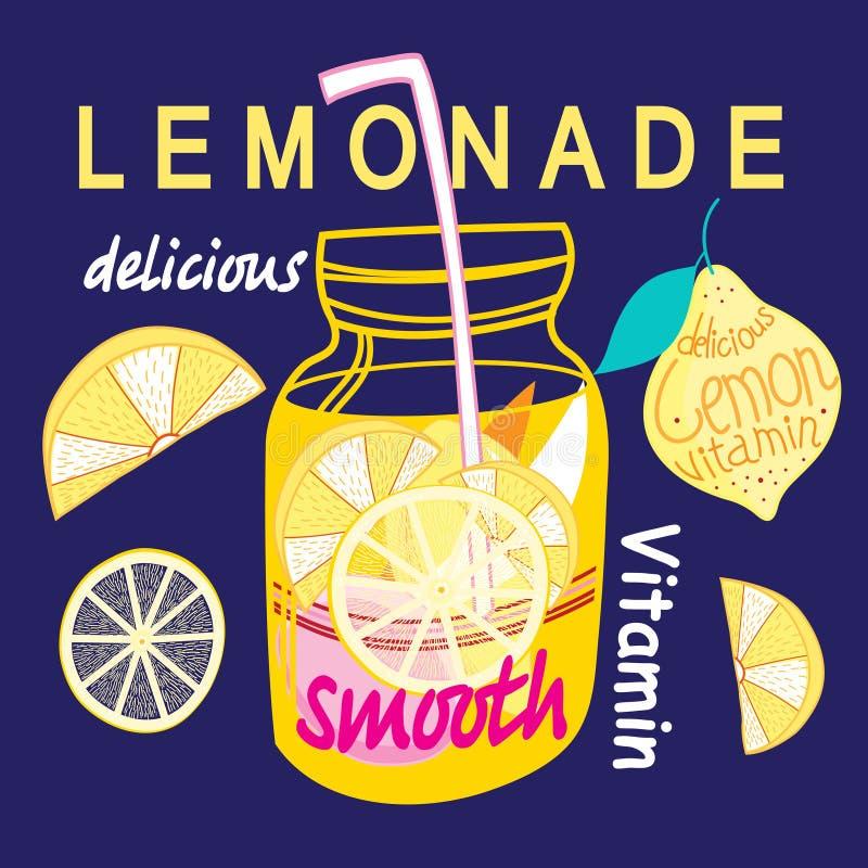 Limonada brilhante gráfica ilustração royalty free