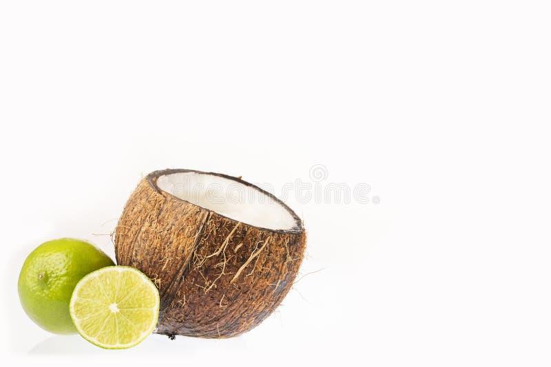 Limonada de refrescamento do coco - nucifera dos Cocos imagens de stock royalty free