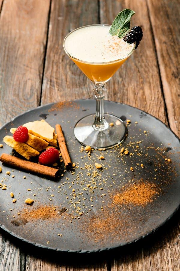 Limonada ou suco Bebida ou cocktail do álcool Imagens para o menu da barra ou do restaurante Bebida com gelo no vidro de martini foto de stock royalty free