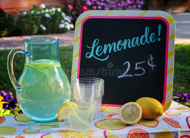 Limonada para a venda fotografia de stock