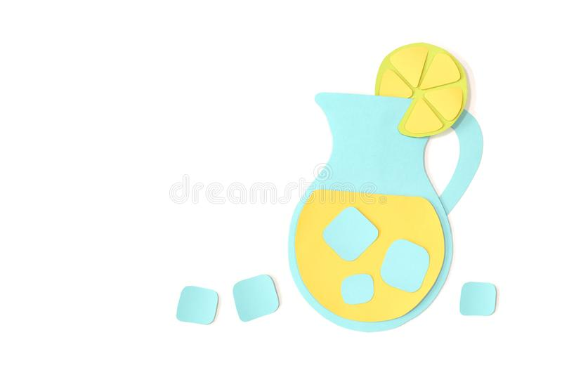 Limonade in een kruikdocument op witte achtergrond wordt gesneden die vector illustratie