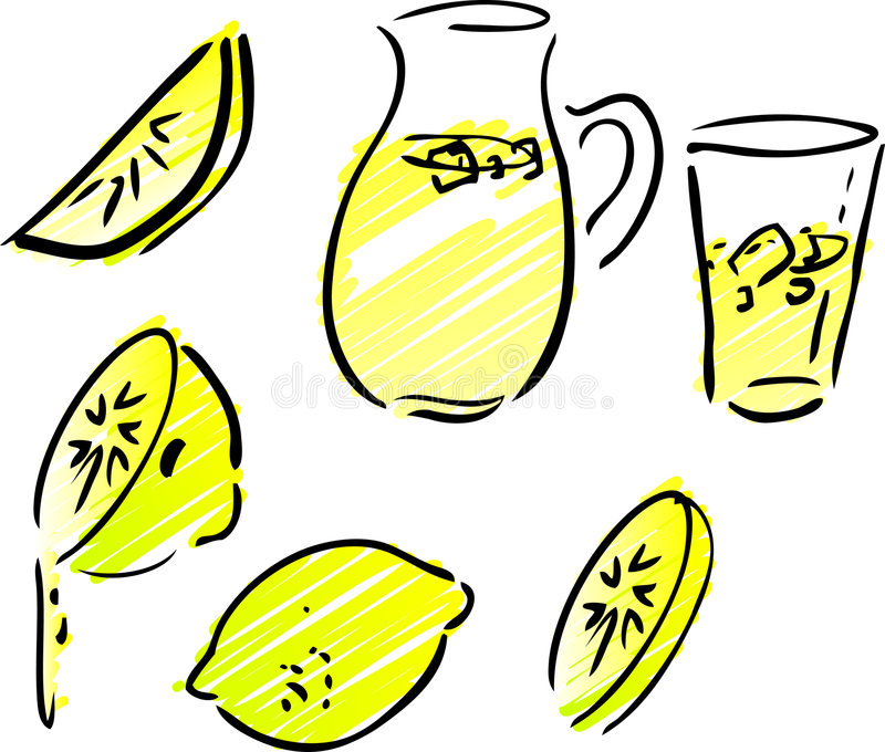 Limonade en citroenen vector illustratie
