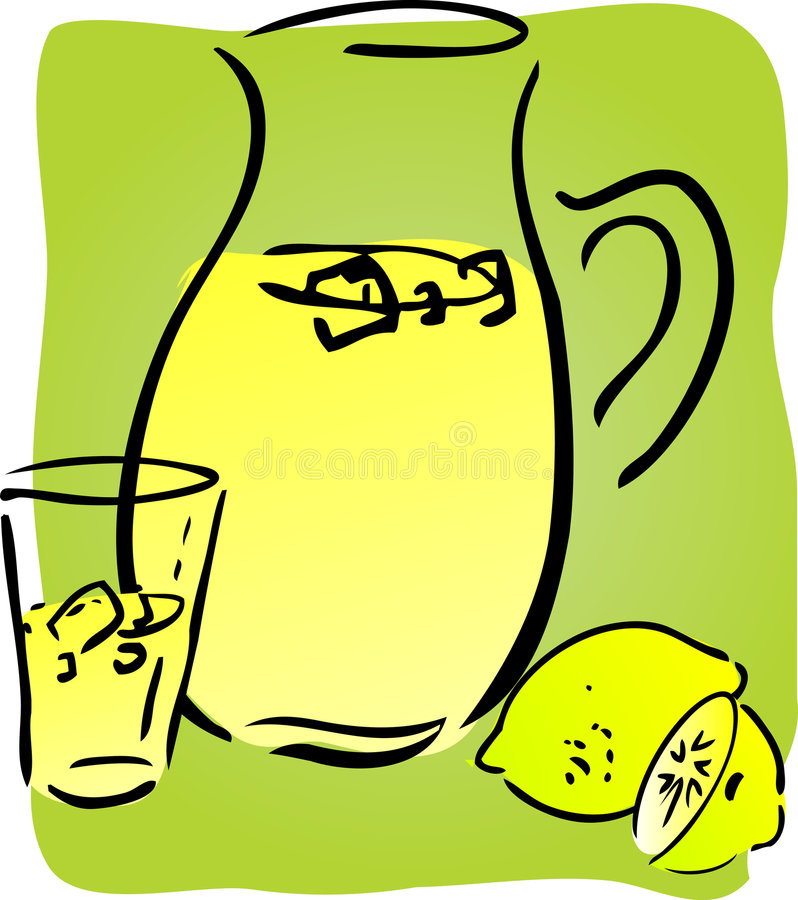 Limonade en citroenen stock illustratie