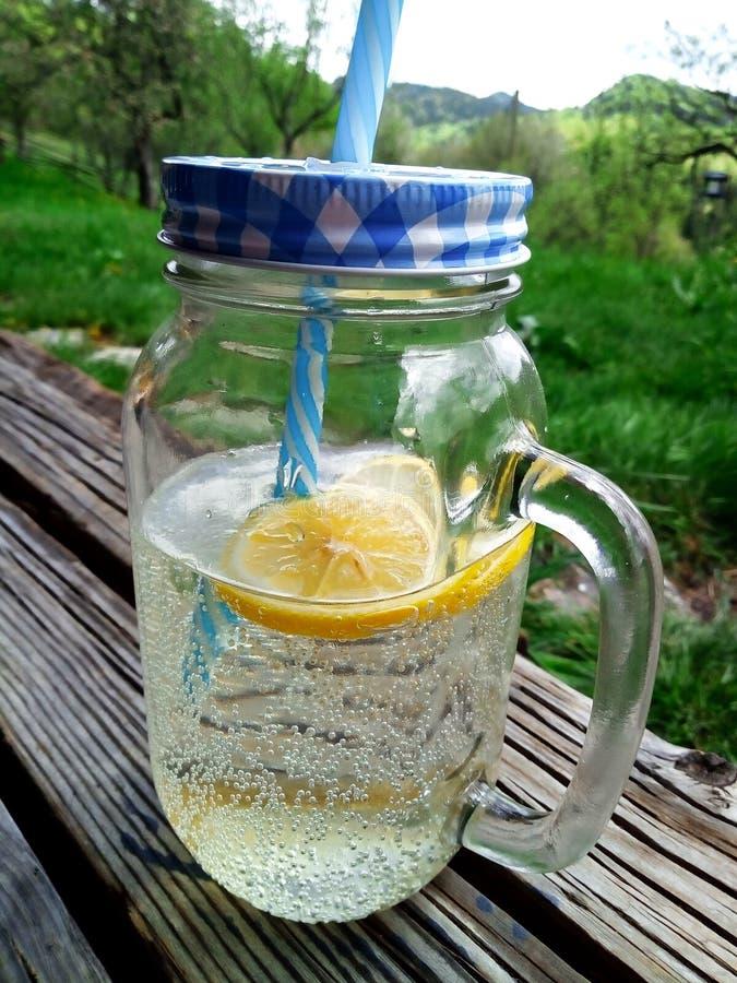 Limonade Faite Maison D'agrume Dans Le Jardin Image stock ...