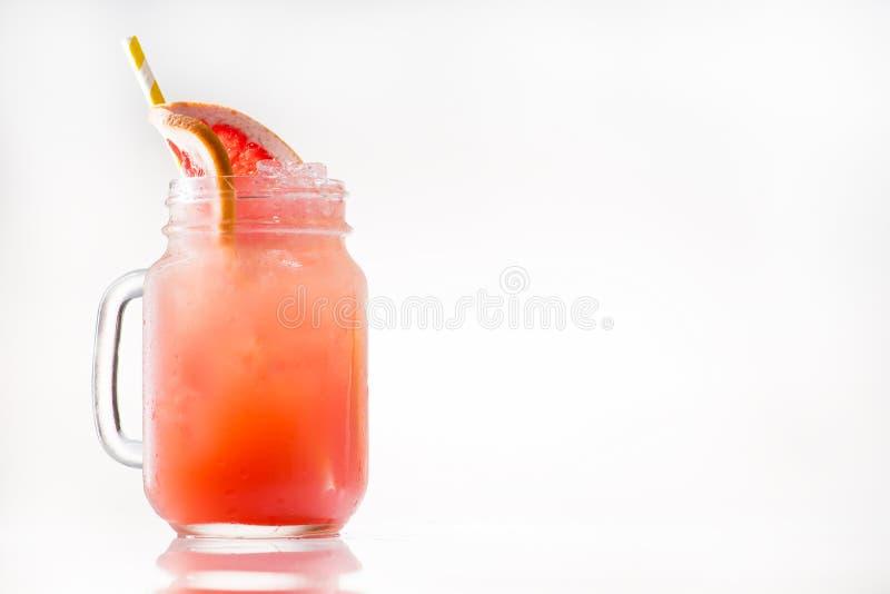 Limonade mit Zitrusfrucht im Weckglas lizenzfreies stockbild