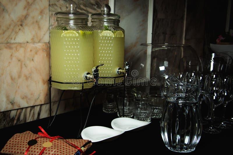 Limonade op een buffet royalty-vrije stock foto's