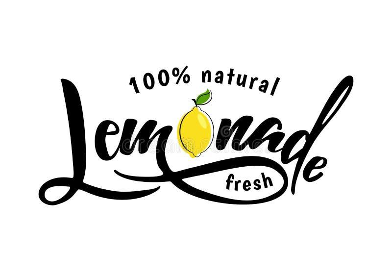 Limonade van letters voorziend teken stock illustratie