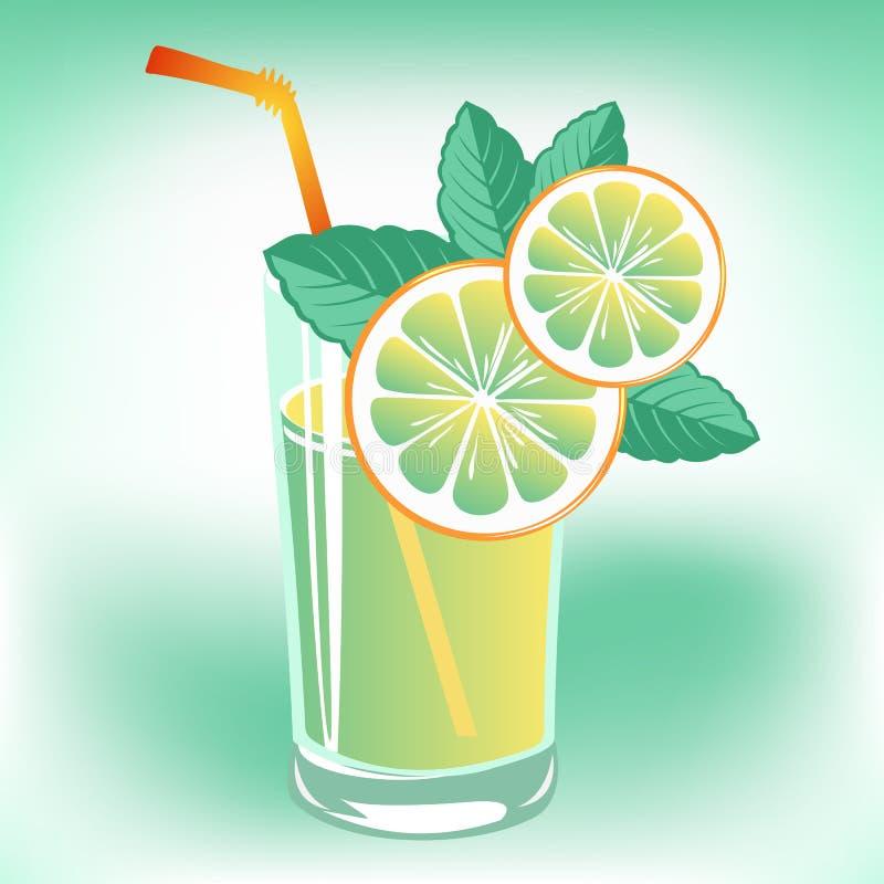 Limonadeglas vector illustratie